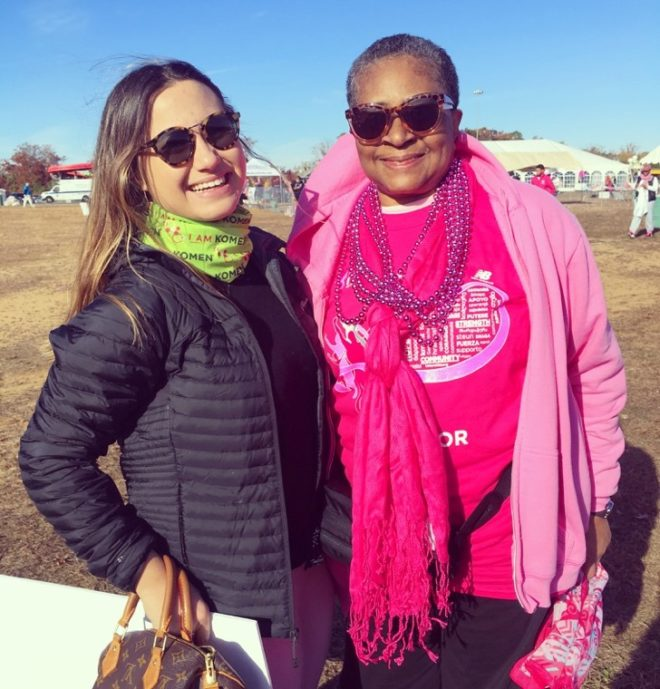 I felt an immediate connection with Shirley (I am pictured with her in the photo above). She is now 8 years breast cancer free. Her family kept her going in the toughest of times, she said that they were truly the biggest supporters she could have asked for. Her biggest advice is to follow your doctor's orders.