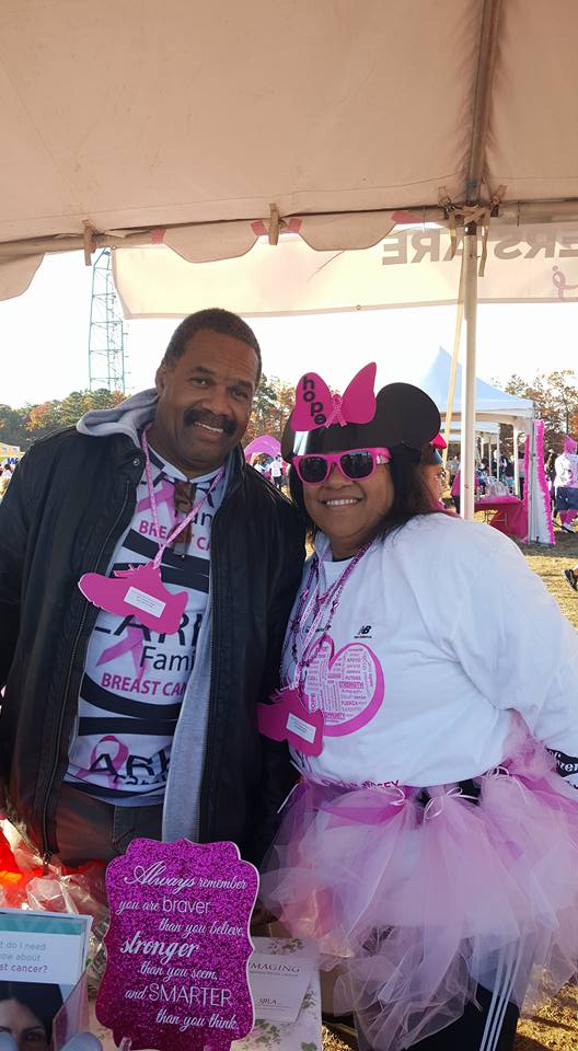 Clark family members at the 2016 Komen CSNJ Race for the Cure.